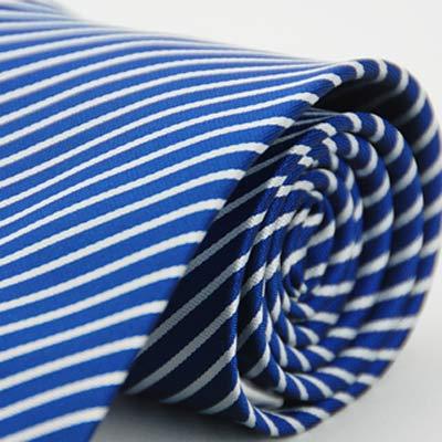 Alpaca 藍底白斜紋領帶