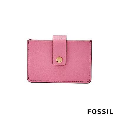 FOSSIL MINI WALLET真皮輕巧小夾-粉色