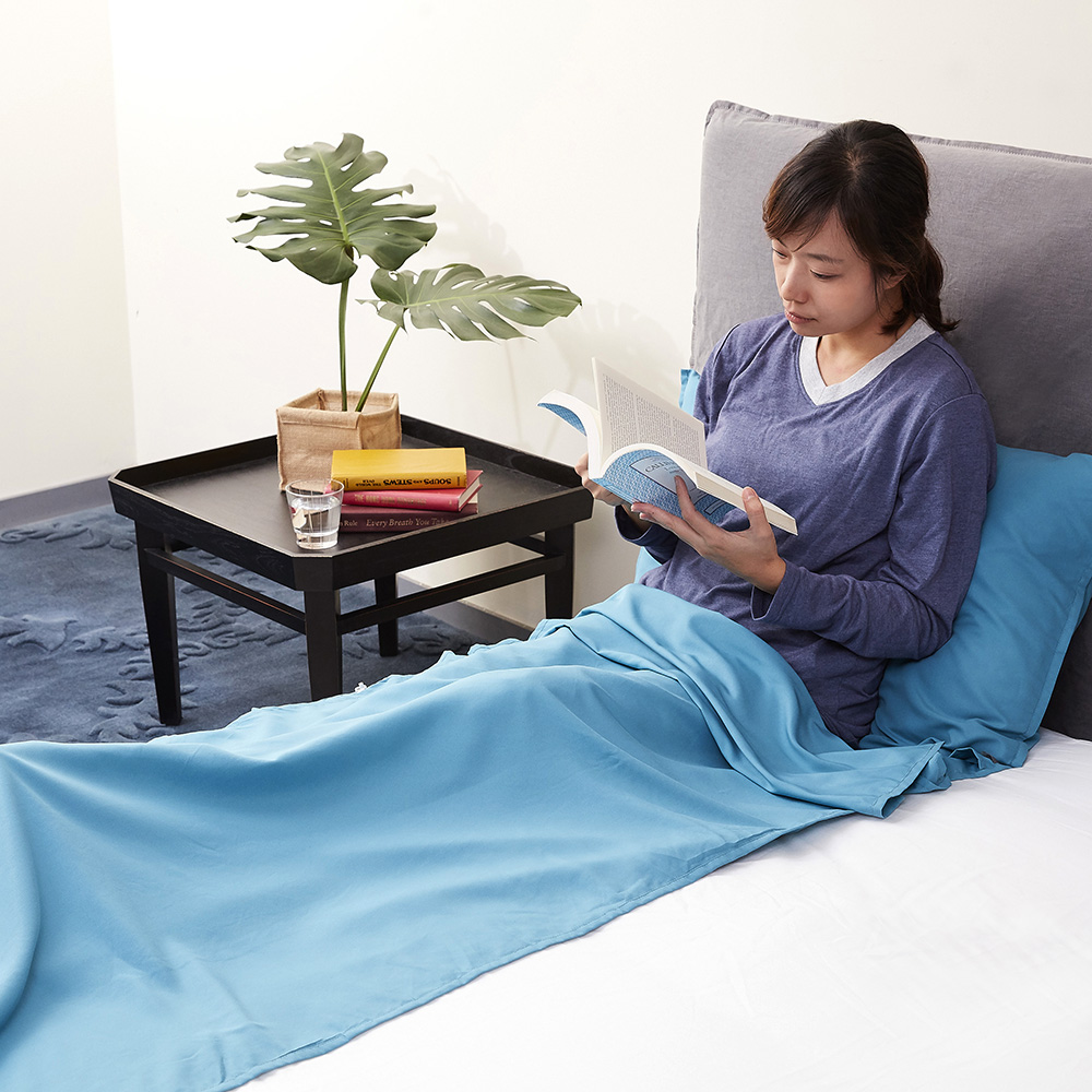 寬庭行旅-琉森-旅行用便攜隔離薄睡袋-附收納袋/雙人