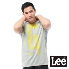 Lee 短袖T恤 圓領黃色文字印刷 -男款(麻花灰)