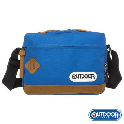 OUTDOOR-率真年代系列-皮底斜背包-土耳其藍