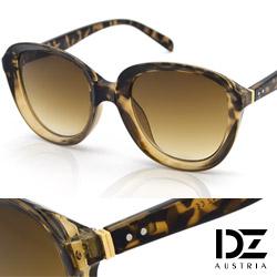 DZ 狂想美學 抗UV太陽眼鏡 墨鏡(玳瑁框漸層茶片)