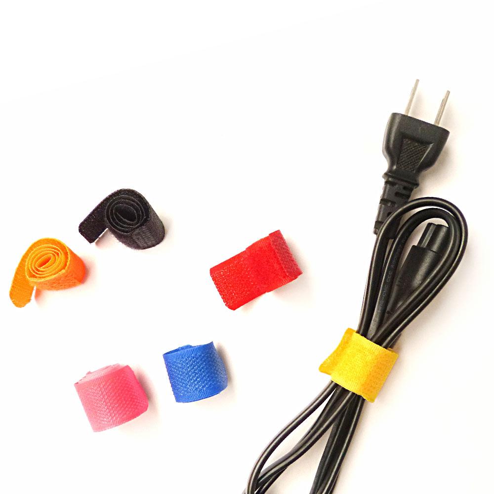 彩色魔鬼氈黏扣式收納集線器/電線收納束帶套組