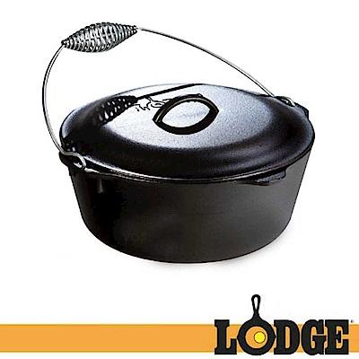 【Lodge】LOGIC DUTCH 7QT 12吋 防燙提把鑄鐵鍋/免開鍋