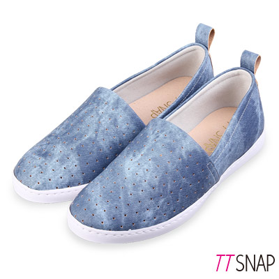 TTSNAP懶人鞋-MIT輕巧透氣洞洞休閒鞋 藍