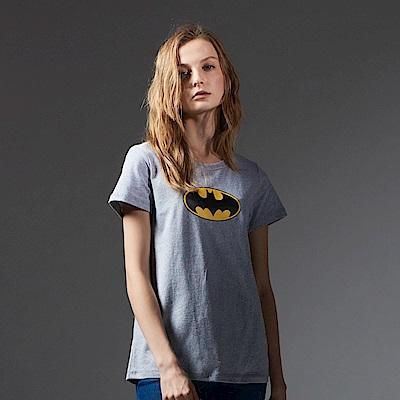 CACO-蝙蝠俠logo厚短T.情侶款(兩色)-女【NDC029】