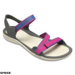 Crocs 卡駱馳 (女鞋) 激浪織帶涼鞋 204804-6X0