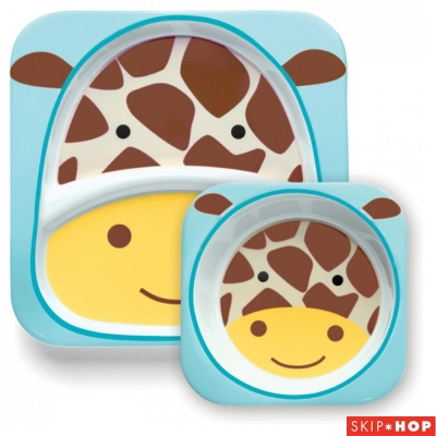Skip Hop 長頸鹿款動物兒童餐具組合
