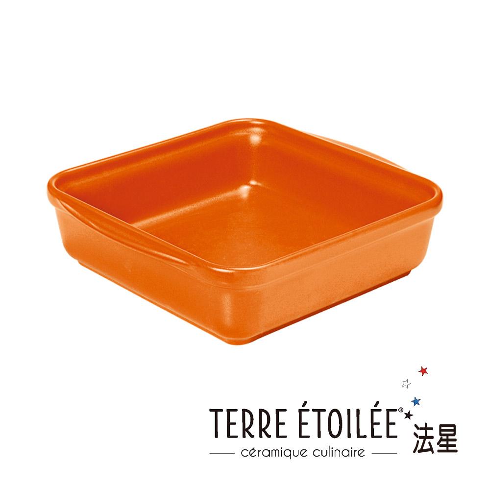 TERRE ETOILEE法星方型烤盤24*24cm-熱情橘