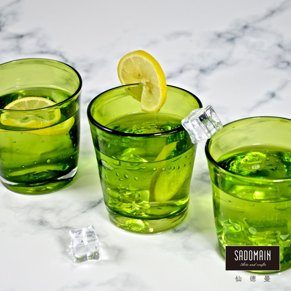 仙德曼SADOMAIN  彩玻寬口握杯(淺綠)3入組