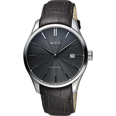 MIDO Belluna II Gent 經典機械腕錶-黑x咖啡/40mm