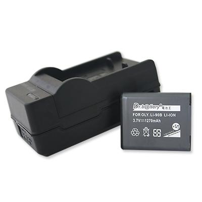 電池王 For Olympus LI-90B/LI90B 高容量鋰電池+充電器組