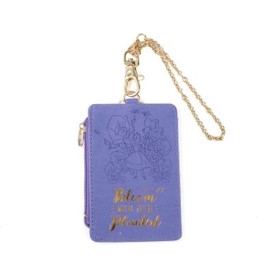 sun-star迪士尼水彩暈染童話系列PU皮革票夾零錢包附鍊愛麗絲
