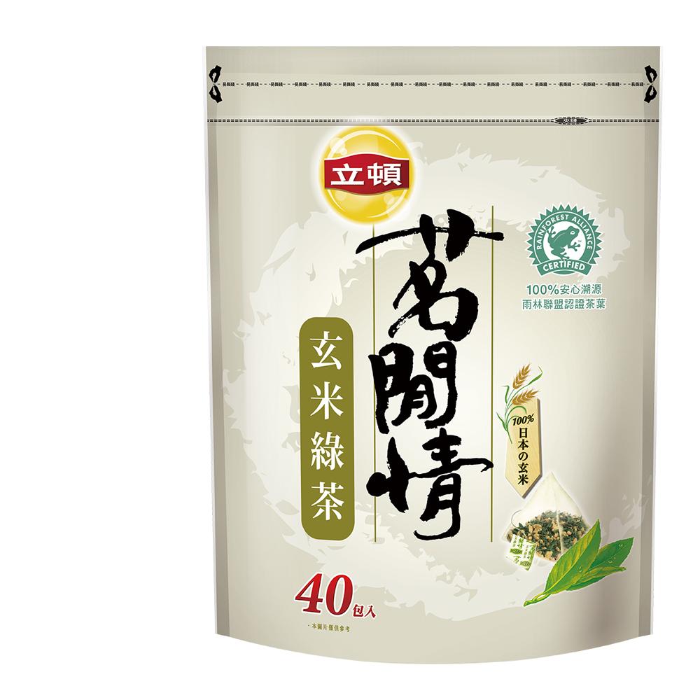 立頓茗閒情玄米綠茶包40入新2.8gx40