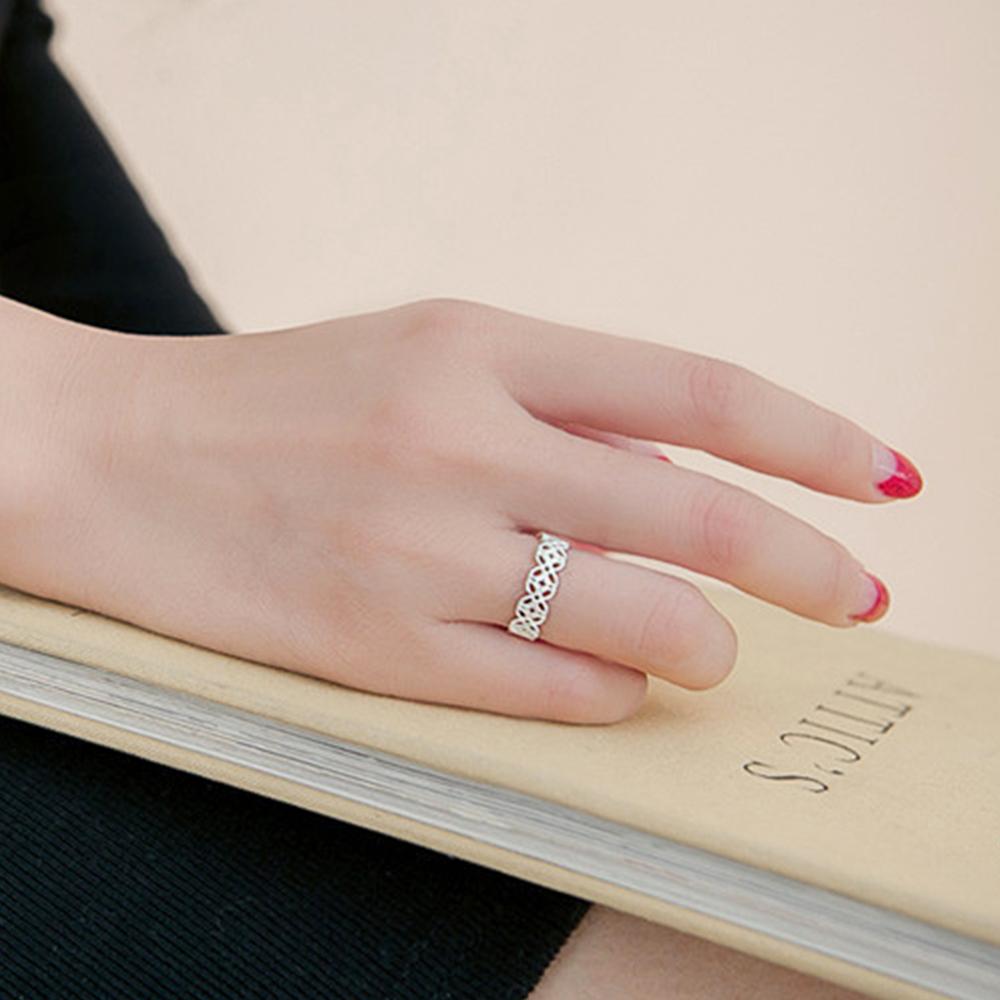 Hera 赫拉 925純銀鏤空花紋開口戒指(2款)