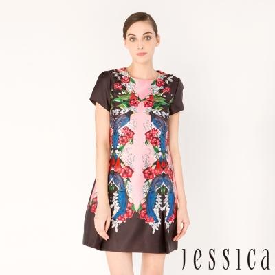 JESSICA -  繁花魅力印花造型洋裝