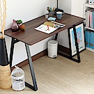 EASY HOME 防潑水/耐磨加寬電腦工作桌(胡桃色)-120x60x75.5cm