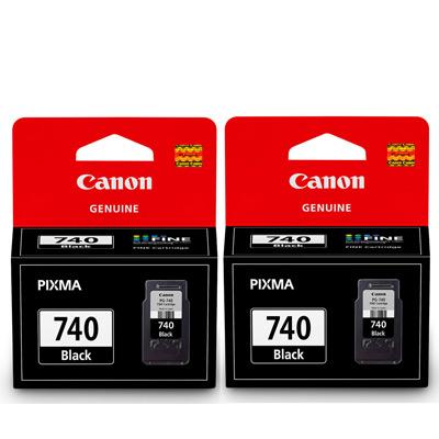 CANON PG-740BK 原廠黑色墨水匣組合(2顆入)