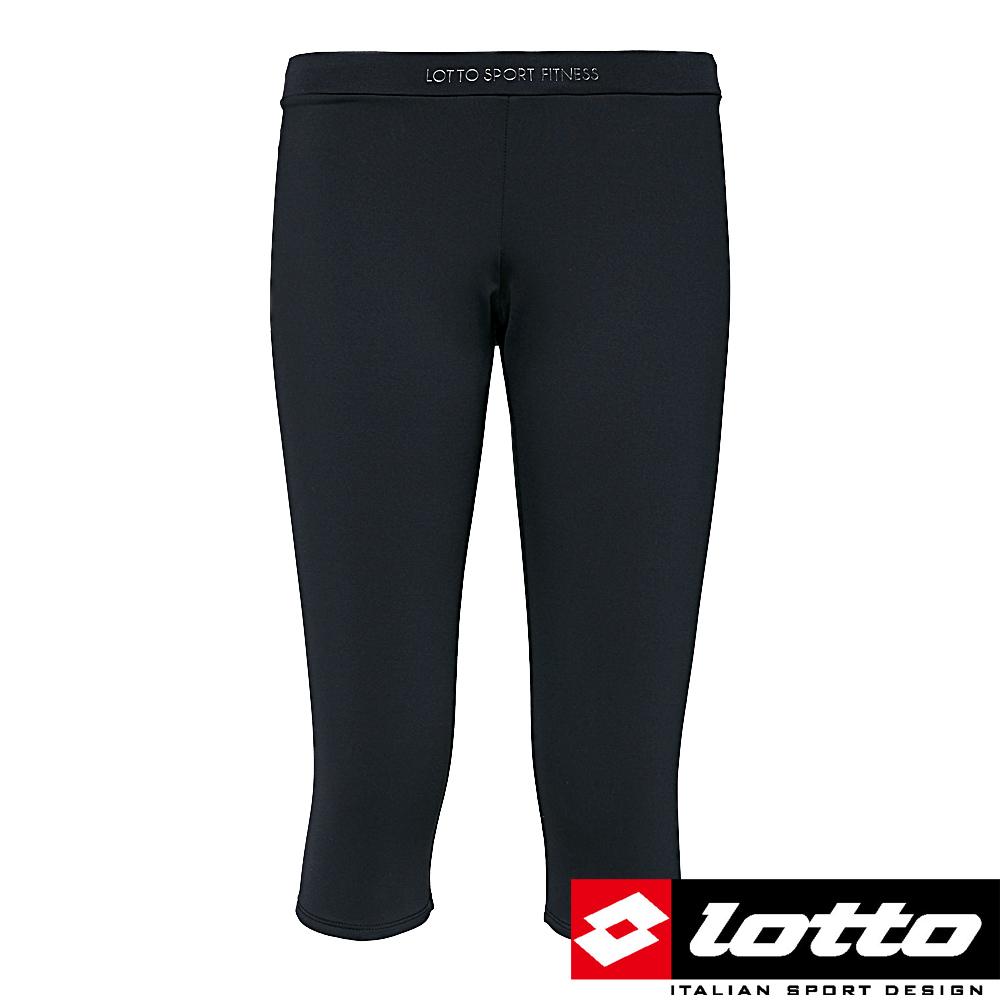 LOTTO 義大利 女 URSULA 彈力七分緊身褲(黑)