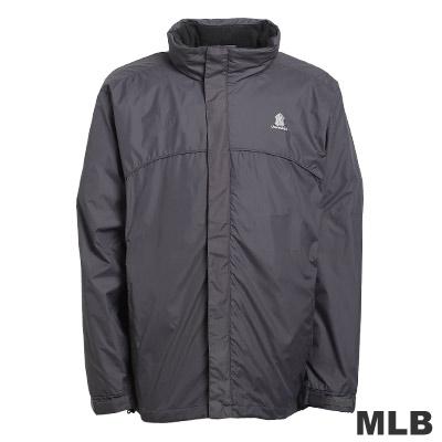 MLB-紐約洋基隊可拆帽風衣外套-深灰(男)