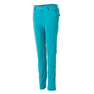 【Wildland 荒野】女彈性透氣抗UV合身長褲藍