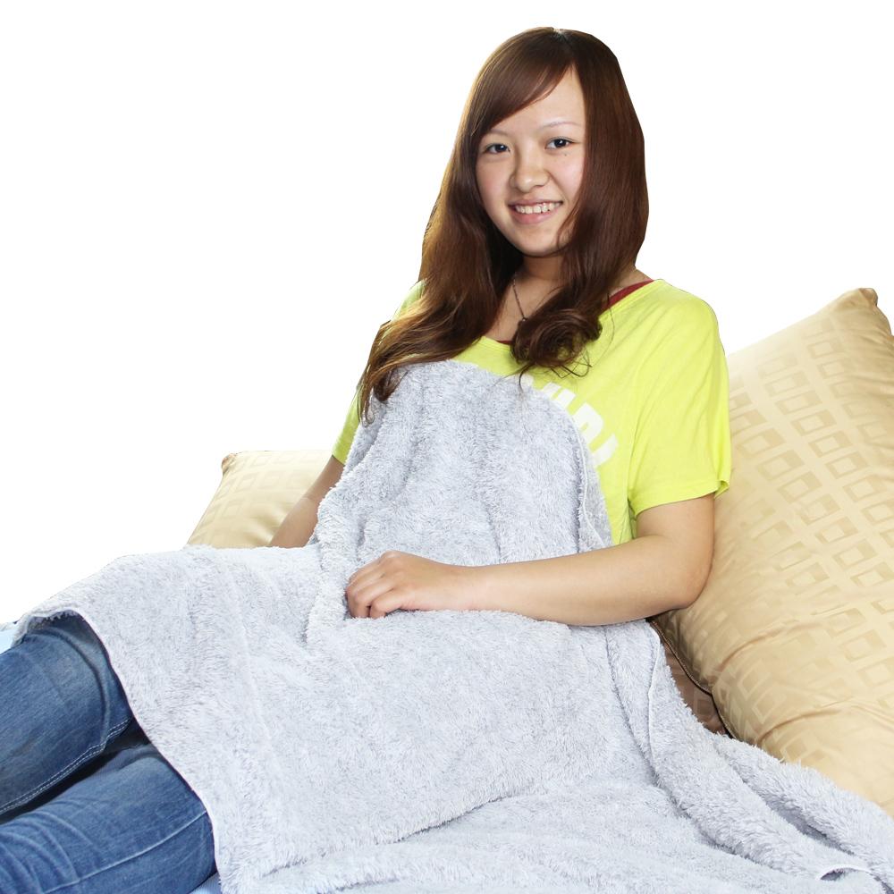 源之氣 竹炭超細纖維柔軟居家/靜坐毛毯 (75*150cm)