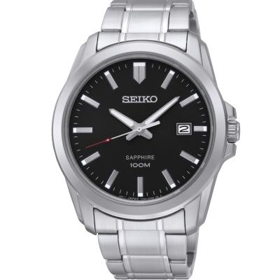 SEIKO CS 簡約質感時尚腕錶(SGEH49P1)-黑/41mm
