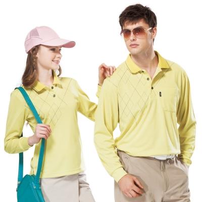 【SPAR】吸濕排汗長袖POLO衫(SP59531、SP77531)檸檬黃色