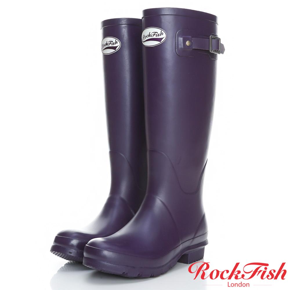 ROCKFISH 質感霧面長筒雨靴 酷色系列 神秘紫