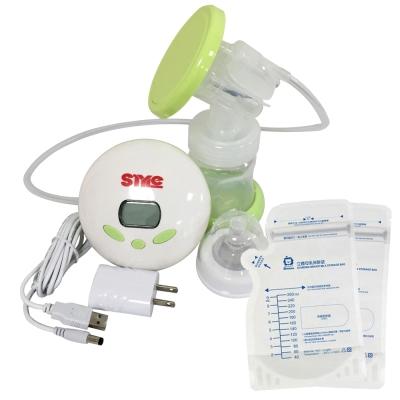 超靜音八段式液晶電動手動吸乳器ST288+小獅王辛巴simba立體母乳保鮮袋260ml
