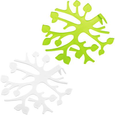 KOZIOL Blo不干擾插花器(白綠2入)