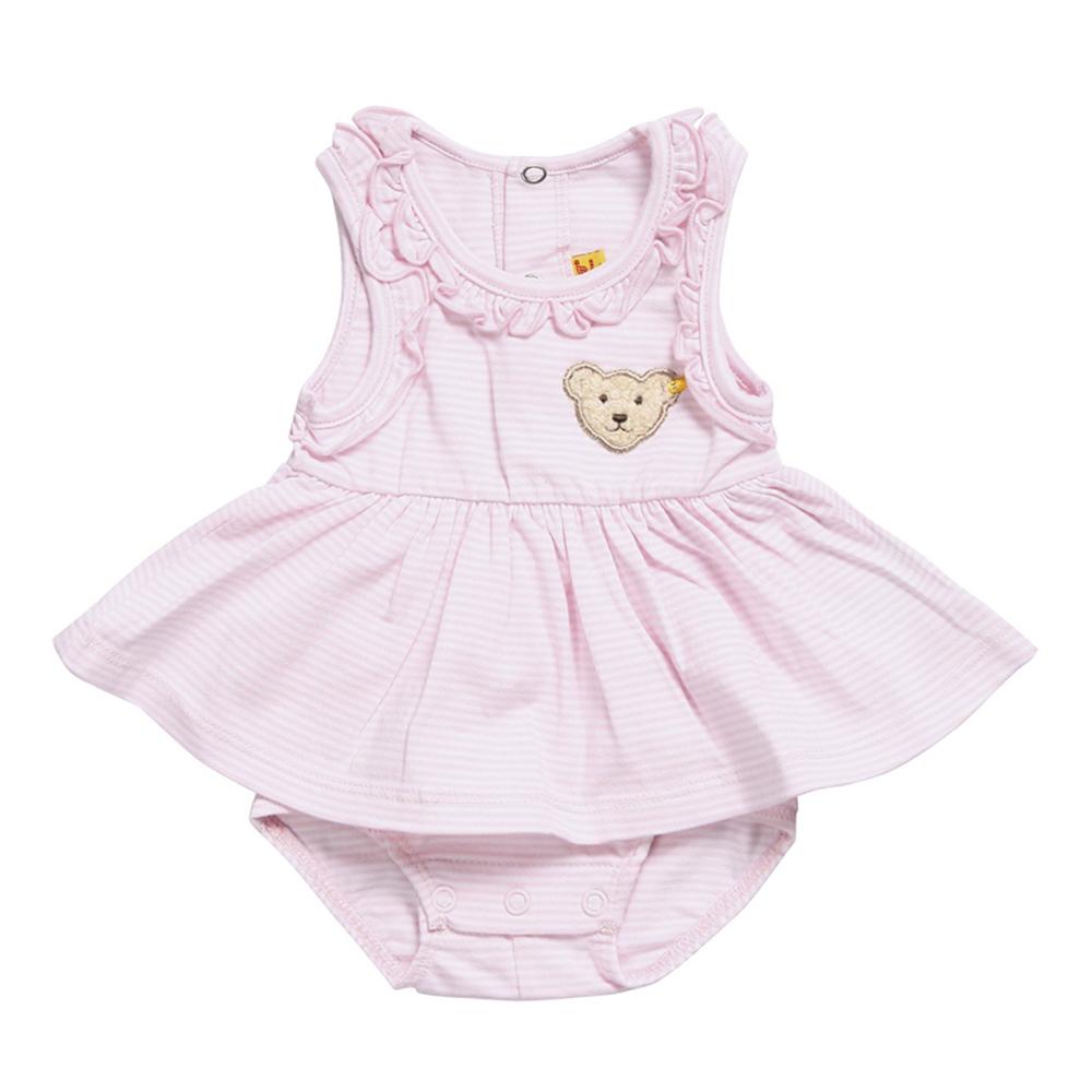 STEIFF德國精品童裝 - 無袖 洋裝 包屁衣 (粉紅)
