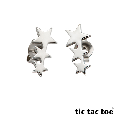 tic tac toe 白鋼耳環 任選三對超值組