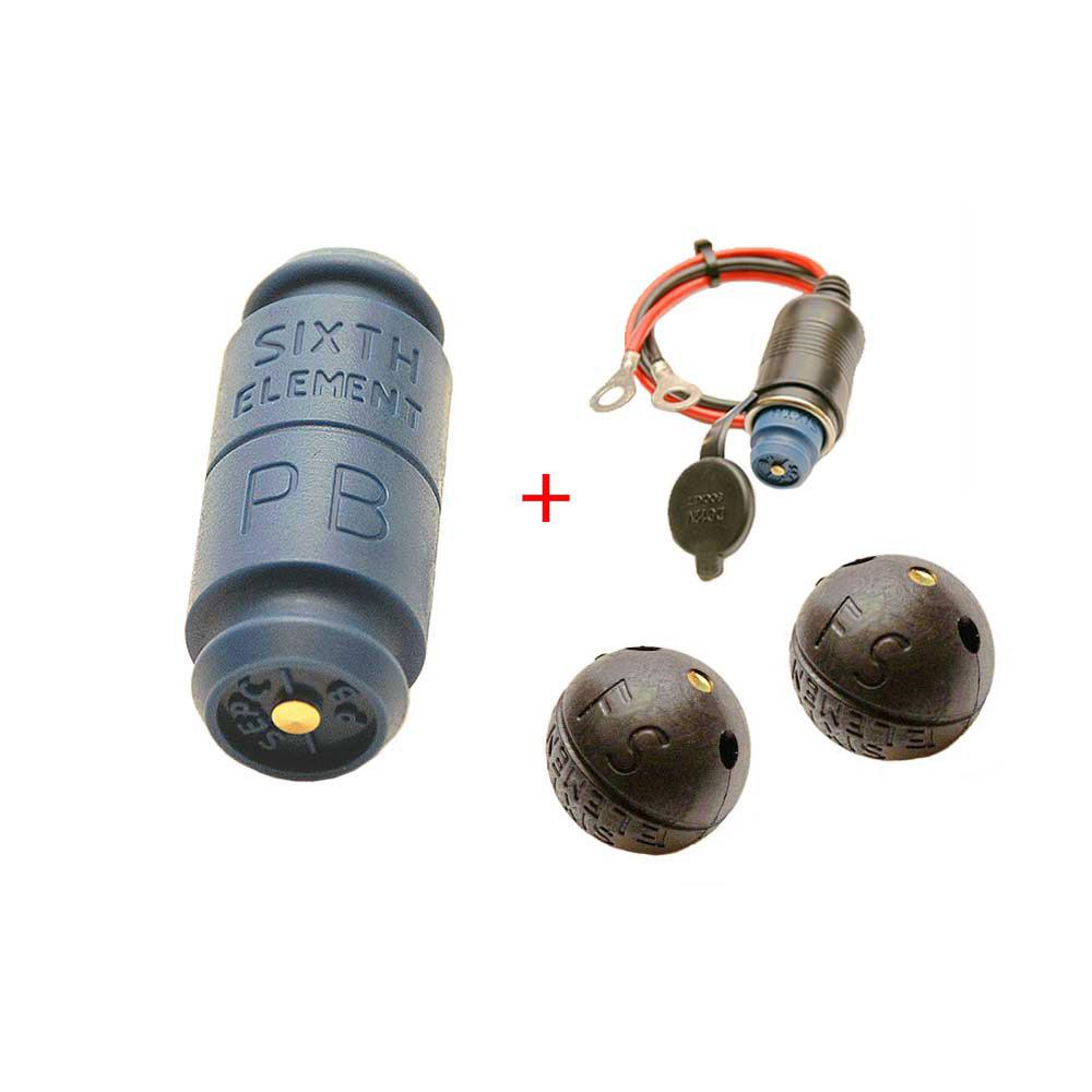 第六元素藍色電集棒+單孔插座+FS汽油彈(黑)*2 超值組合