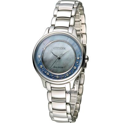 CITIZEN L系列 柔美風格璀璨真鑽腕錶(EM0380-65D)-藍/30mm