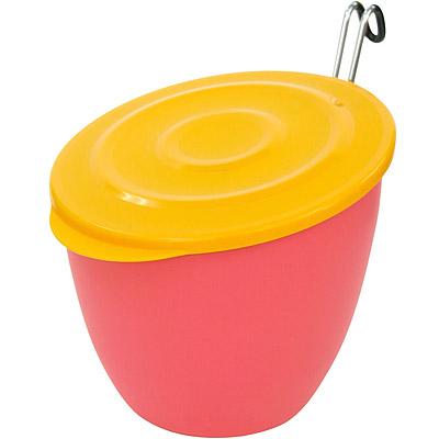 Sceltevie 掛式淺蓋收納桶(桃)