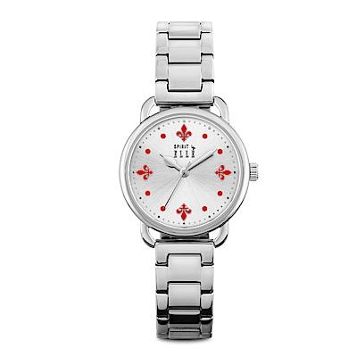 ELLE 皇家閨蜜系列不鏽鋼腕表-銀X紅/32mm