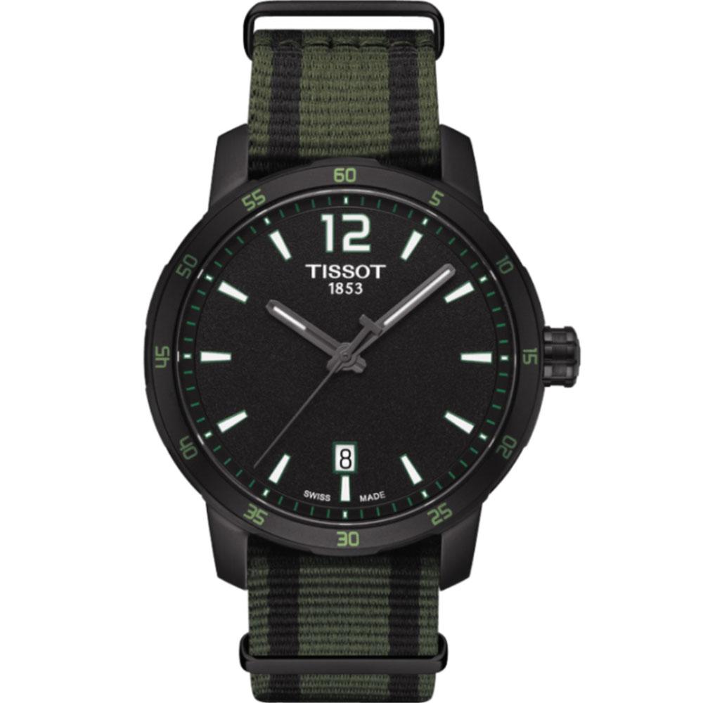 TISSOT QUICKSTER航海運動腕錶((T095410370570)-綠/40mm