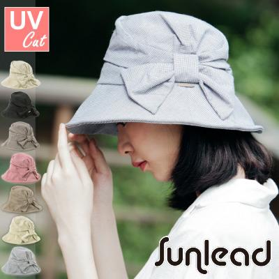 Sunlead 防曬可塑型折邊寬緣蝴蝶結遮陽帽