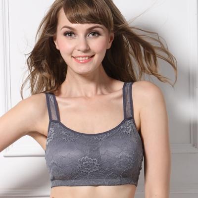 可蘭霓Clany  冰涼蕾絲M-XL美型內衣 優雅灰