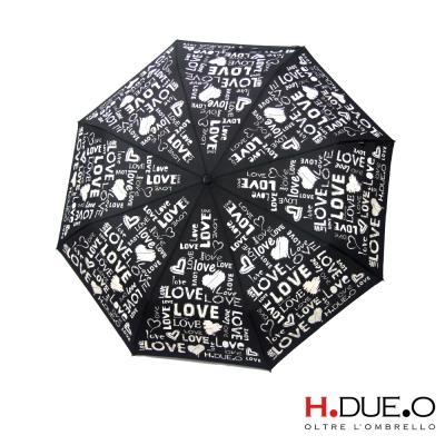 義大利H.DUE.O LOVE變色抗UV三折手開傘-黑
