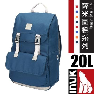 【加拿大 INUK】薩米圖騰 拉普蘭 潮牌人體工學避震背負後背包20L_海神藍