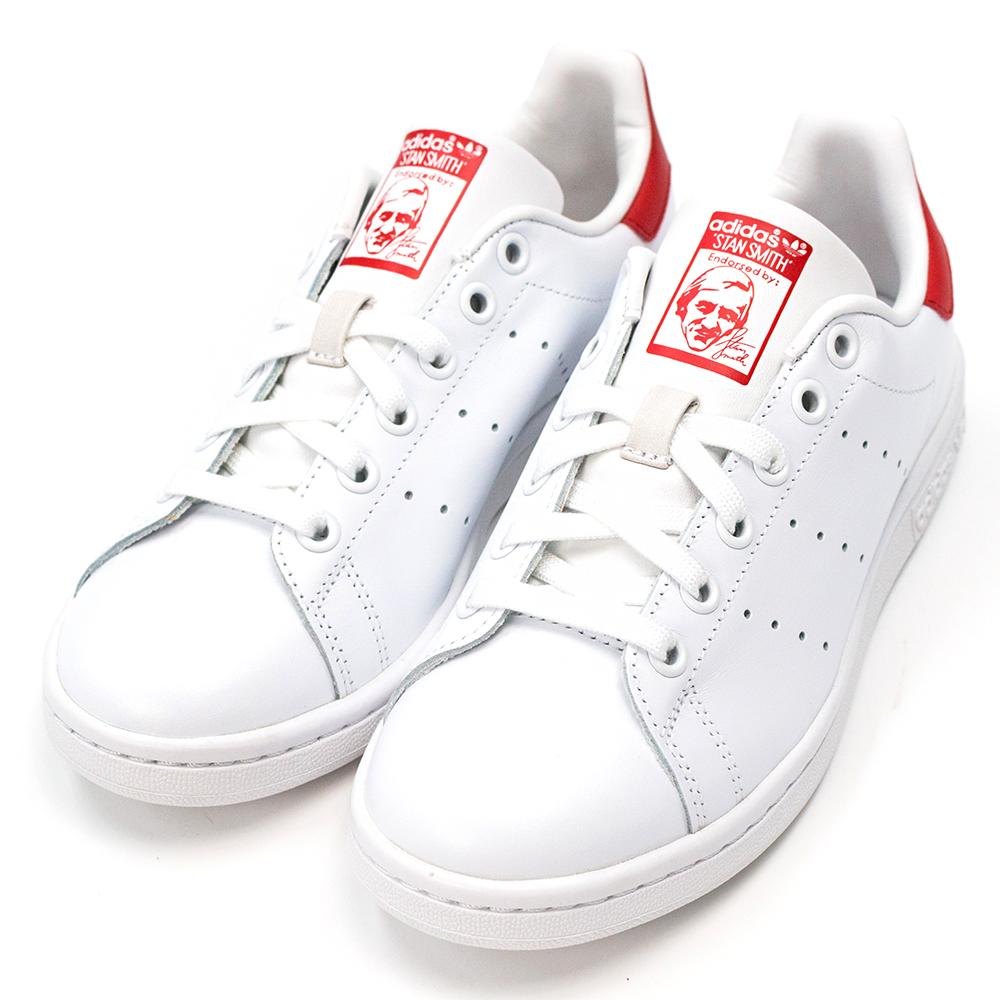 ADIDAS-STAN SMITH女休閒鞋-白紅