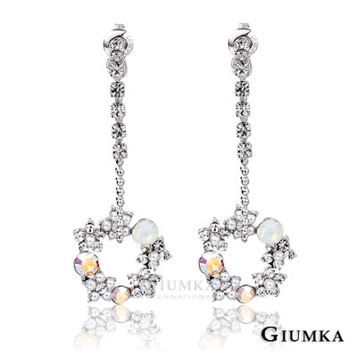 GIUMKA 華麗庭園耳環-銀色