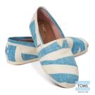 TOMS 經典條紋懶人鞋-女款(藍)