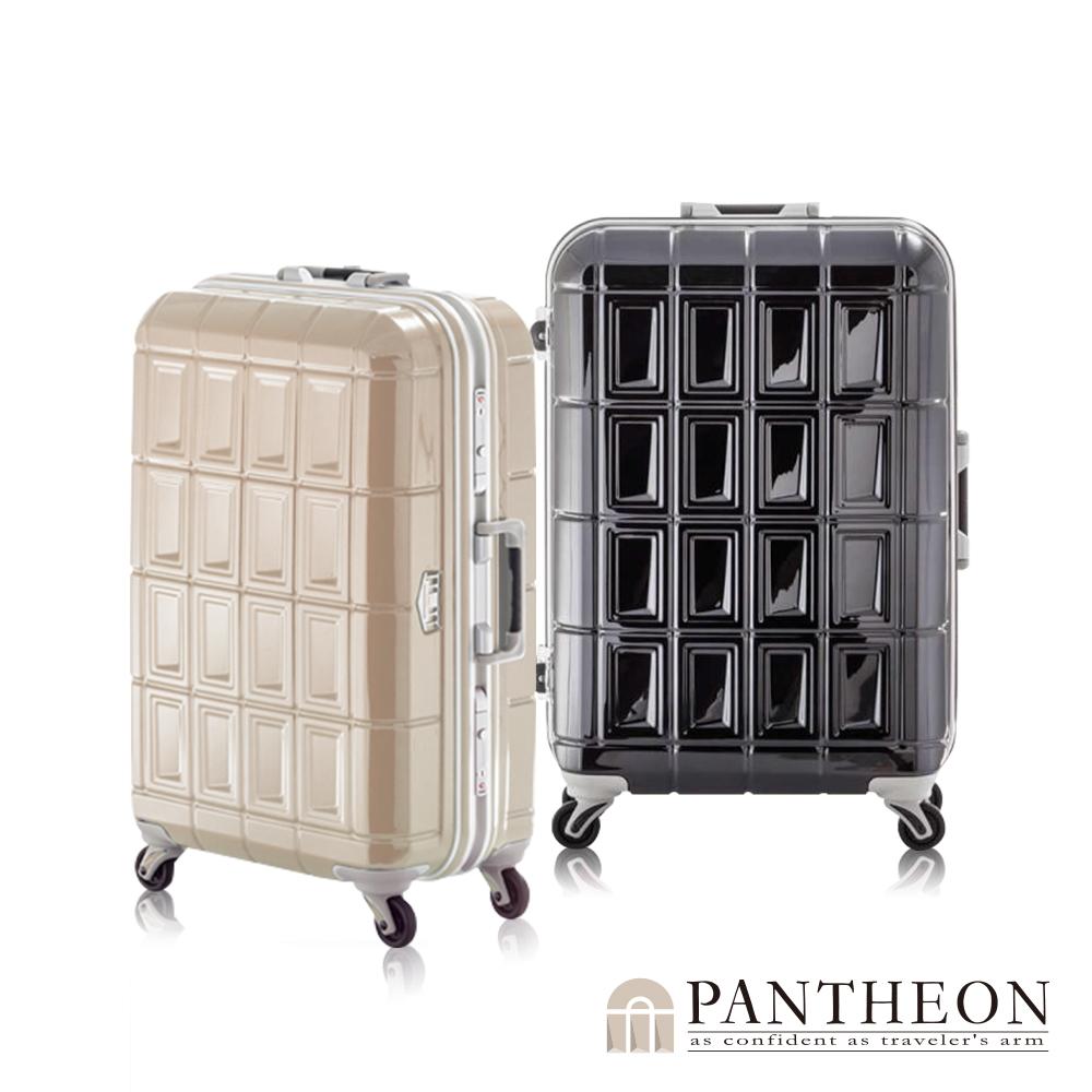 日本PANTHEON 26吋 經典黑  網美行李箱 輕量鋁框登機箱