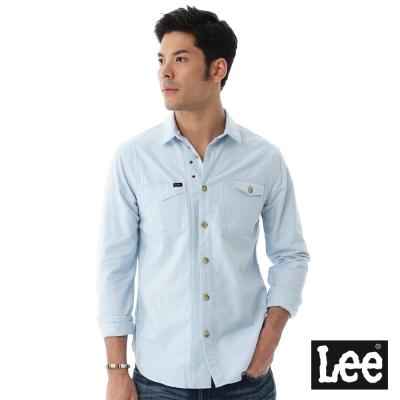 Lee 素色長袖襯衫/RG-男款-淺藍色