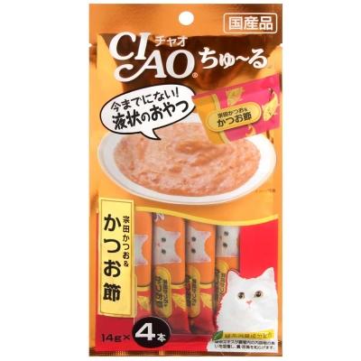 CIAO 啾嚕肉泥 鰹魚+柴魚片 14gx4入