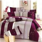 理性世代-紫台灣製雙人五件式純棉床罩組