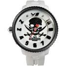 MORRIS K 反轉世界潮流腕錶-白/45mm